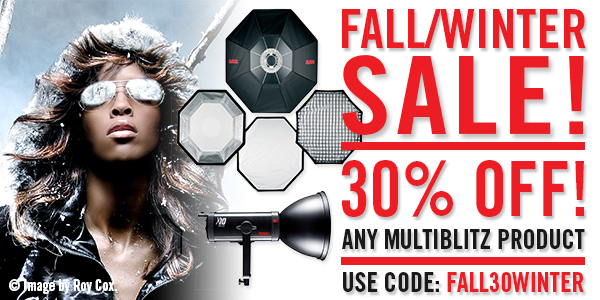 Studio Lighting FALL/WINTE SALE: 30% Off at www.multiblitzusa.com
